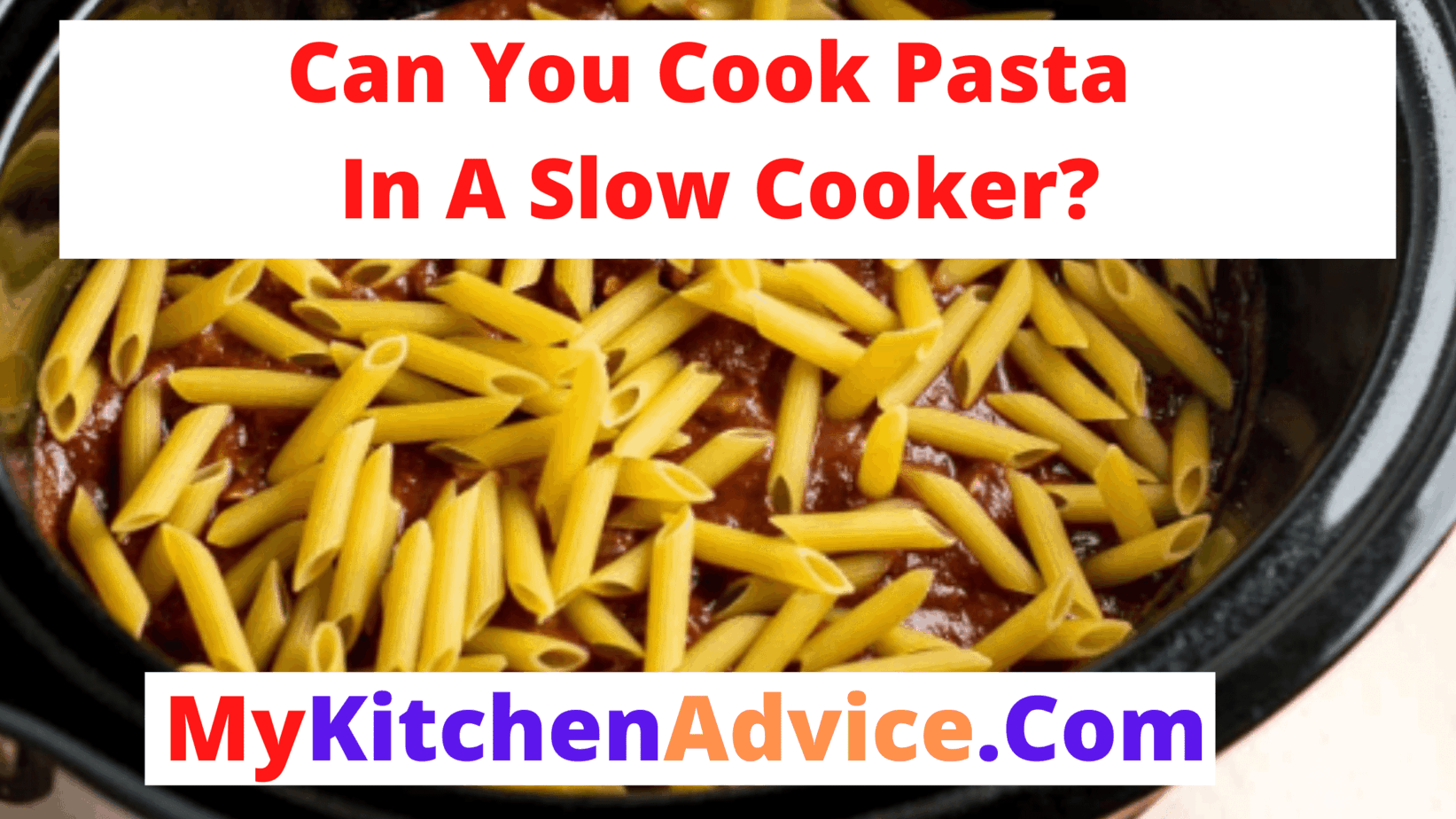 can you cook pasta in a slow cooker