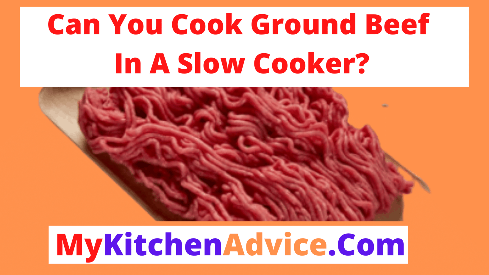 can you cook ground beef in a slow cooker